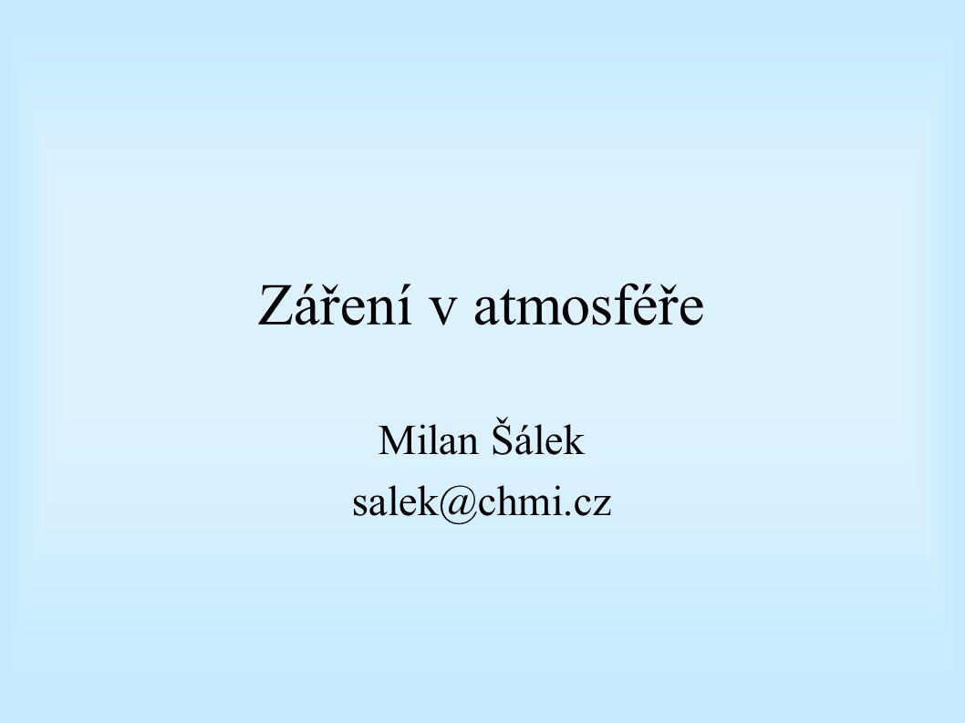 Záření v atmosféře Milan Šálek salek@chmi.cz