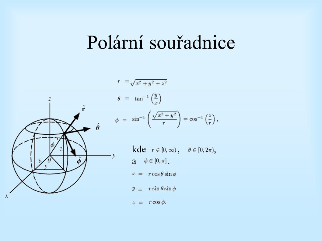 """Prostorový úhel (""""solid angle ) element prostorového úhlu"""