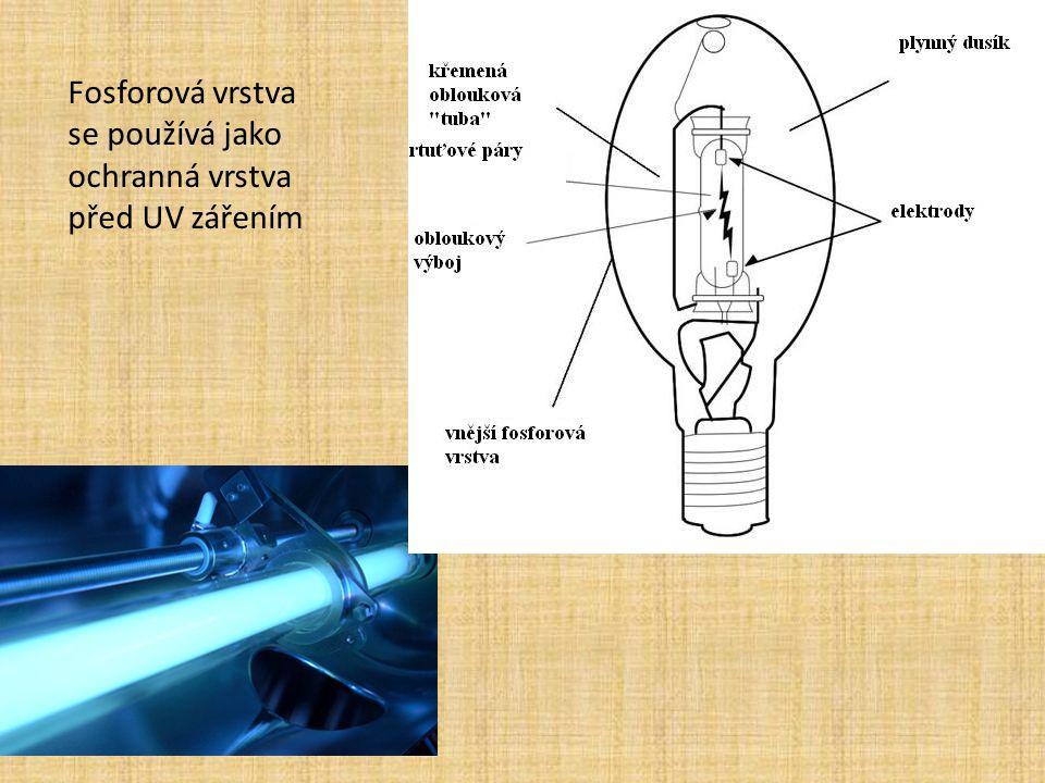 Fosforová vrstva se používá jako ochranná vrstva před UV zářením