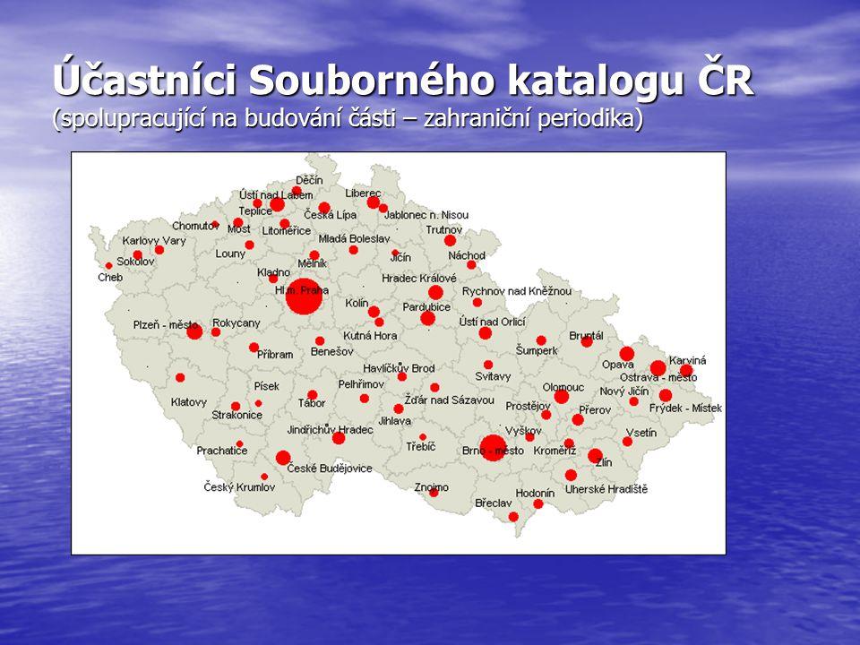 Účastníci Souborného katalogu ČR (spolupracující na budování části – zahraniční periodika)
