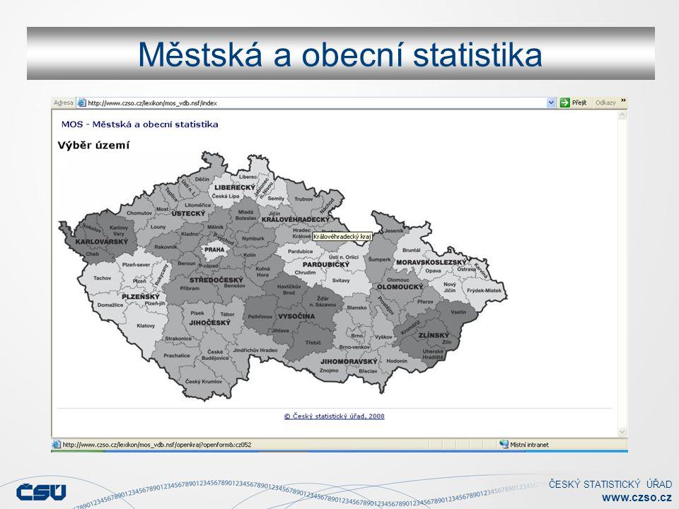 ČESKÝ STATISTICKÝ ÚŘAD www.czso.cz Městská a obecní statistika