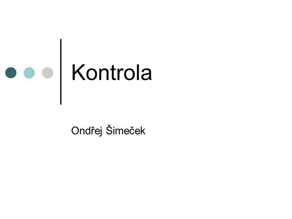 Kontrola Ondřej Šimeček