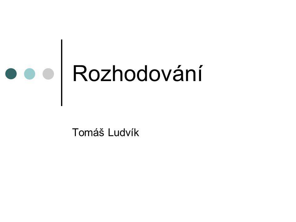 Rozhodování Tomáš Ludvík