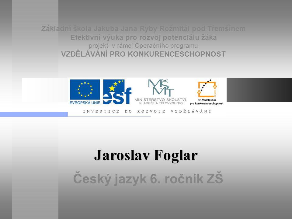 Jaroslav Foglar (6.7. 1907 - 23. 1.