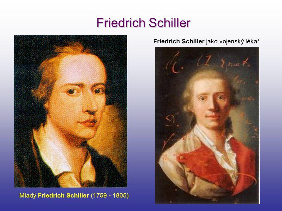 Friedrich Schiller Mladý Friedrich Schiller (1759 - 1805) Friedrich Schiller jako vojenský lékař