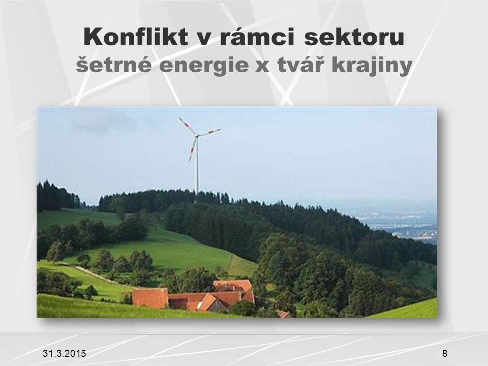 Konflikt v rámci sektoru šetrné energie x tvář krajiny 31.3.20158