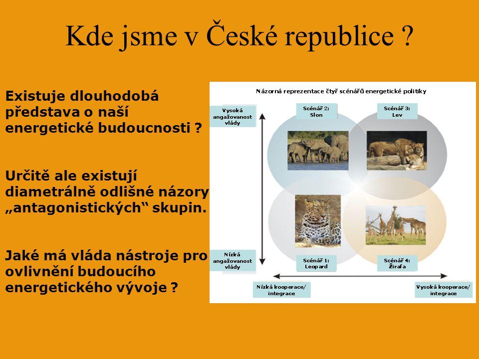 Kde jsme v České republice . Existuje dlouhodobá představa o naší energetické budoucnosti .
