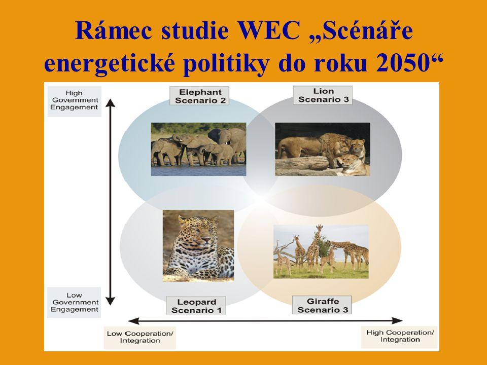 "Rámec studie WEC ""Scénáře energetické politiky do roku 2050"