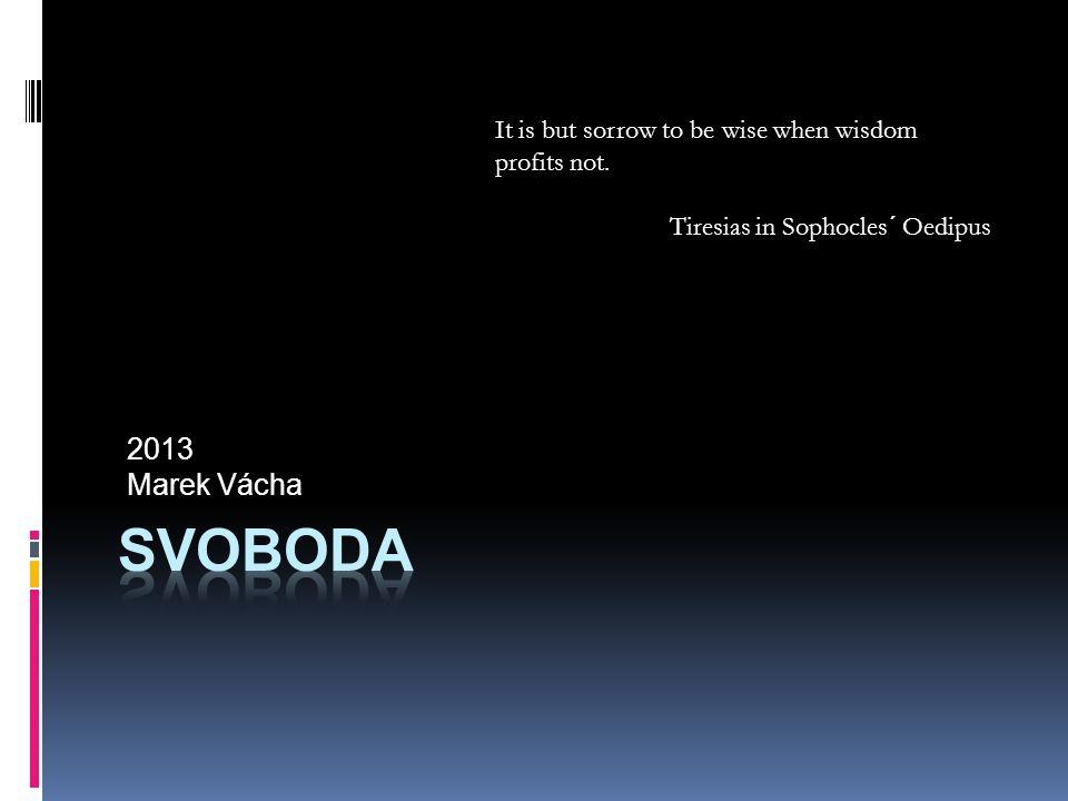 2013 Marek Vácha It is but sorrow to be wise when wisdom profits not.