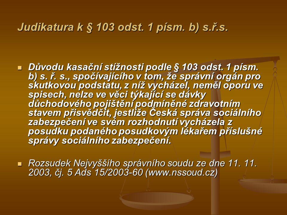 Judikatura k § 103 odst.1 písm. c) s.ř.s.