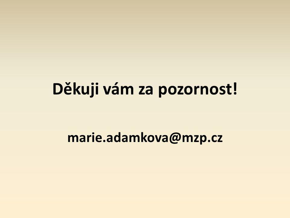 Děkuji vám za pozornost! marie.adamkova@mzp.cz