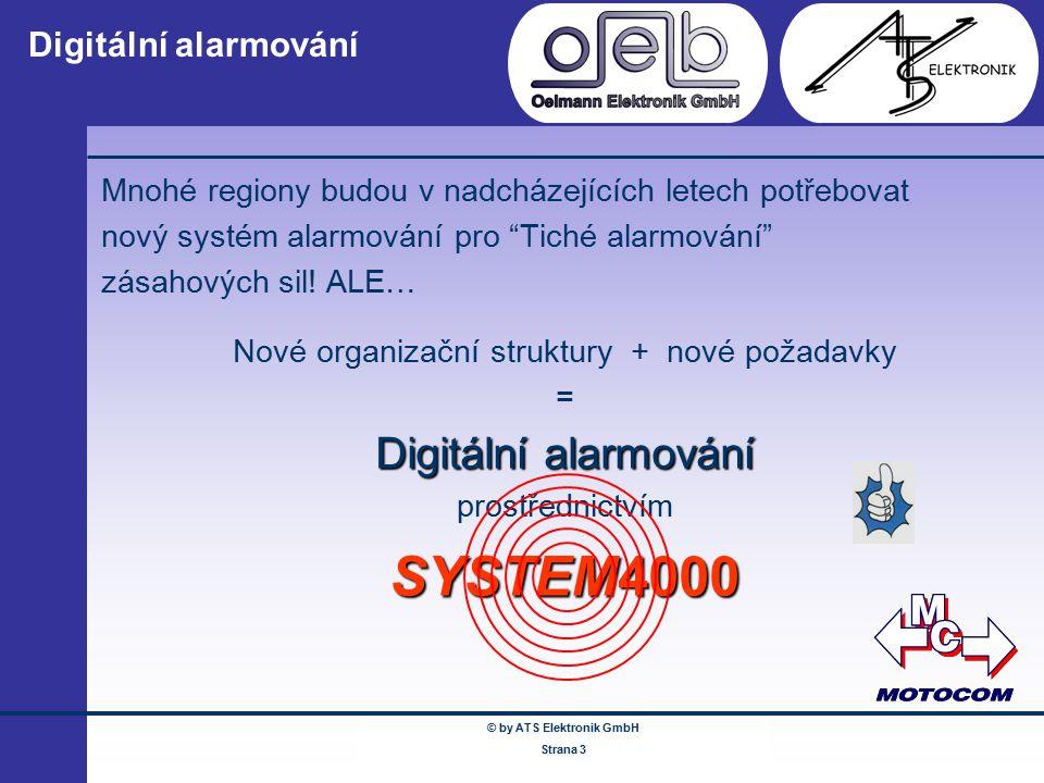 © by ATS Elektronik GmbH Februar 2005 www.ATSonline.de Seite 3 Digitální alarmování Mnohé regiony budou v nadcházejících letech potřebovat nový systém