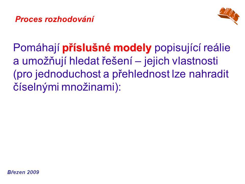 příslušné modely Pomáhají příslušné modely popisující reálie a umožňují hledat řešení – jejich vlastnosti (pro jednoduchost a přehlednost lze nahradit