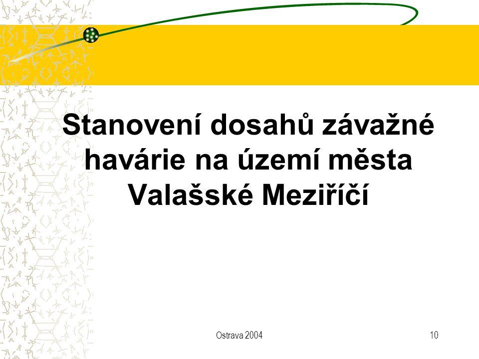 Ostrava 200410 Stanovení dosahů závažné havárie na území města Valašské Meziříčí