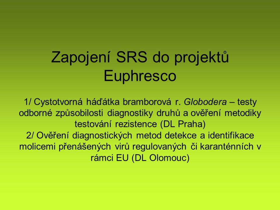 Zapojení SRS do projektů Euphresco 1/ Cystotvorná háďátka bramborová r.