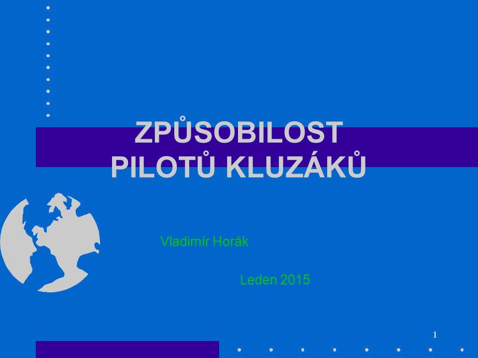 1 ZPŮSOBILOST PILOTŮ KLUZÁKŮ Vladimír Horák Leden 2015