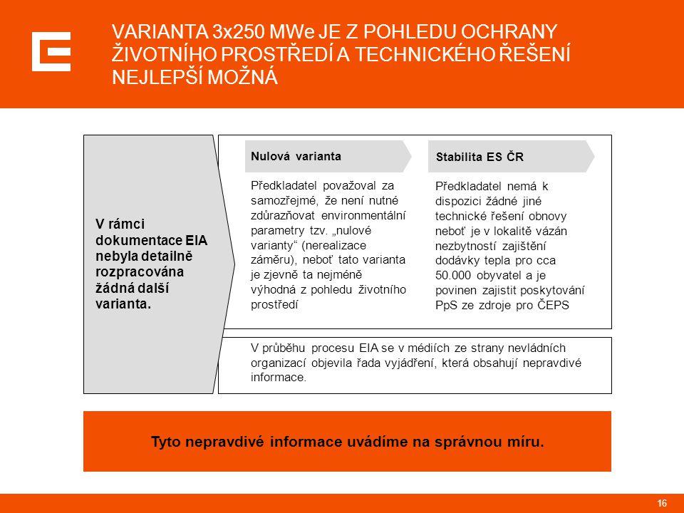17 Nevládní organizace nabízí trváním na nerealizovatelné variantě provoz elektrárny, jejíž účinnost již neodpovídá dnešním možnostem a požadavkům na efektivitu výroby energií oddálení snížení stávajících environmentálních dopadů výroby energie v elektrárně Prunéřov II v České republice zachování stávajících emisí skleníkových plynů, které se podílejí na změně klimatu po dobu dalších 25 let ŘEŠENÍ NAVRHOVANÉ NEVLÁDNÍMI ORGANIZACEMI JSME PROZKOUMALI JIŽ DÁVNO, AVŠAK NEVLÁDNÍ ORGANIZACE NEKOMUNIKUJÍ CELÝ SOUBOR INFORMACÍ ČEZ nabízí komplexní obnovu elektrárny Prunéřov II, která zajistí velmi významné snížení emisí zdraví a přírodě škodlivých látek do ovzduší snížení emisí skleníkových plynů, které se podílejí na změně klimatu zlepšení životního prostředí při současném zajištění dodávek elektrické a tepelné energie investici cca 25 mld.