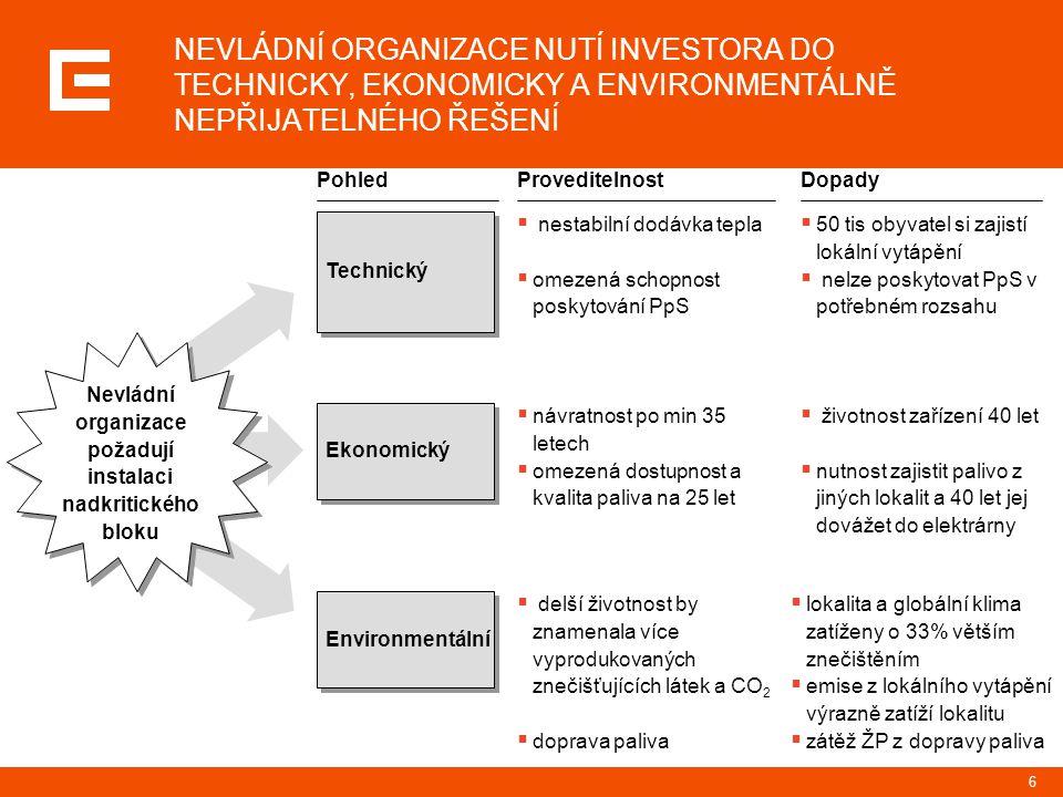 """7 ČEZ PŘEDLOŽIL VARIANTU TECHNICKÉHO ŘEŠENÍ, KTERÁ SPLŇUJE POŽADAVKY NA NEJLEPŠÍ DOSTUPNOU TECHNIKU PŘI RESPEKTOVÁNÍ VŠECH OKRAJOVÝCH PODMÍNEK Procesní údaje proces posuzování vlivu na životní prostředí (EIA) záměru """"Komplexní obnova elektrárny Prunéřov II 3 x 250MWe byl zahájen v polovině roku 2008 závěrečné stanovisko k tomuto procesu EIA mělo být podle zákona o EIA vydáno 4."""