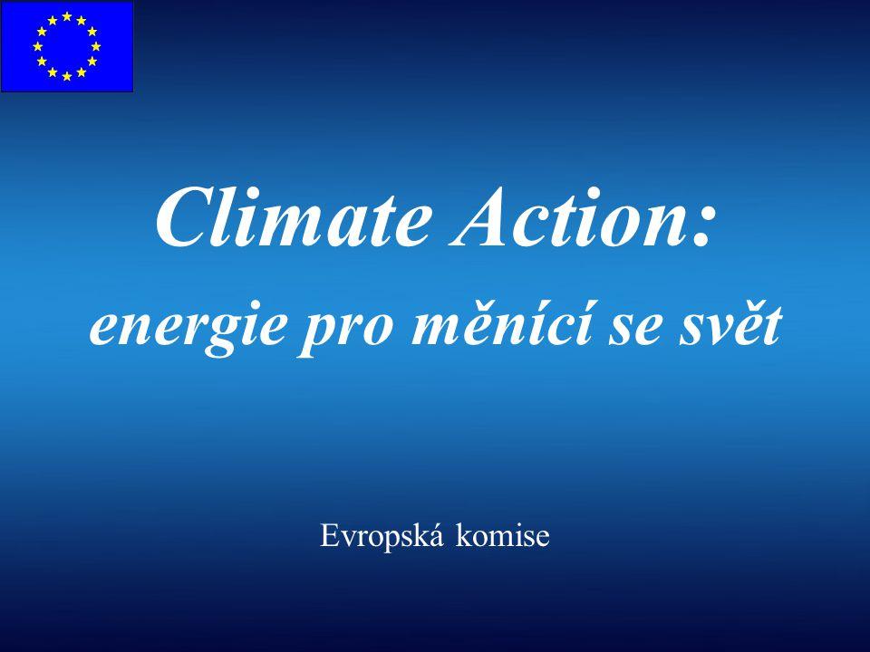 1.Zvyšující se obavy o zabezpečení a plynulost dodávek ropy a zemního plynu; zvyšující se ceny energií, i přes zvýšenou účinnost vyplývající z liberalizace trhu EU Souvislosti 3.Politika hospodářské soutěže EU: potřeba inovativního průmyslového rozvoje a vedoucího postavení  3 pilíře energetické politiky EU: udržitelnost, zabezpečení dodávek, konkurenceschopnost 2.Změny klimatu