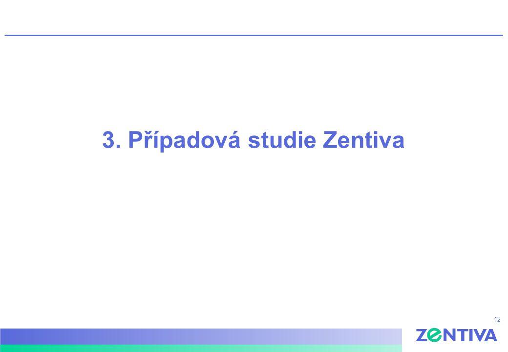 12 3. Případová studie Zentiva