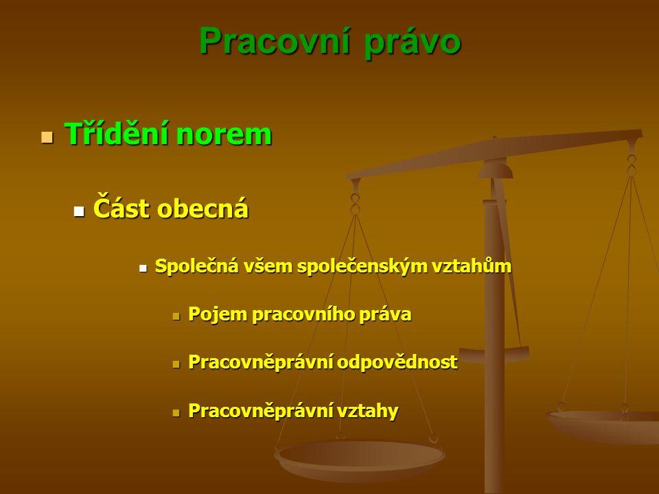 Pracovní právo Účastníci pracovněprávních vztahů Účastníci pracovněprávních vztahů Účastníkem pracovněprávních vztahů je Česká republika a považuje se za právnickou osobou, pokud je zaměstnavatelem Účastníkem pracovněprávních vztahů je Česká republika a považuje se za právnickou osobou, pokud je zaměstnavatelem Za stát jedná a práva a povinnosti z pracovněprávních vztahů vykonává organizační složka státu, která za stát v pracovněprávním vztahu zaměstnance zaměstnává Za stát jedná a práva a povinnosti z pracovněprávních vztahů vykonává organizační složka státu, která za stát v pracovněprávním vztahu zaměstnance zaměstnává