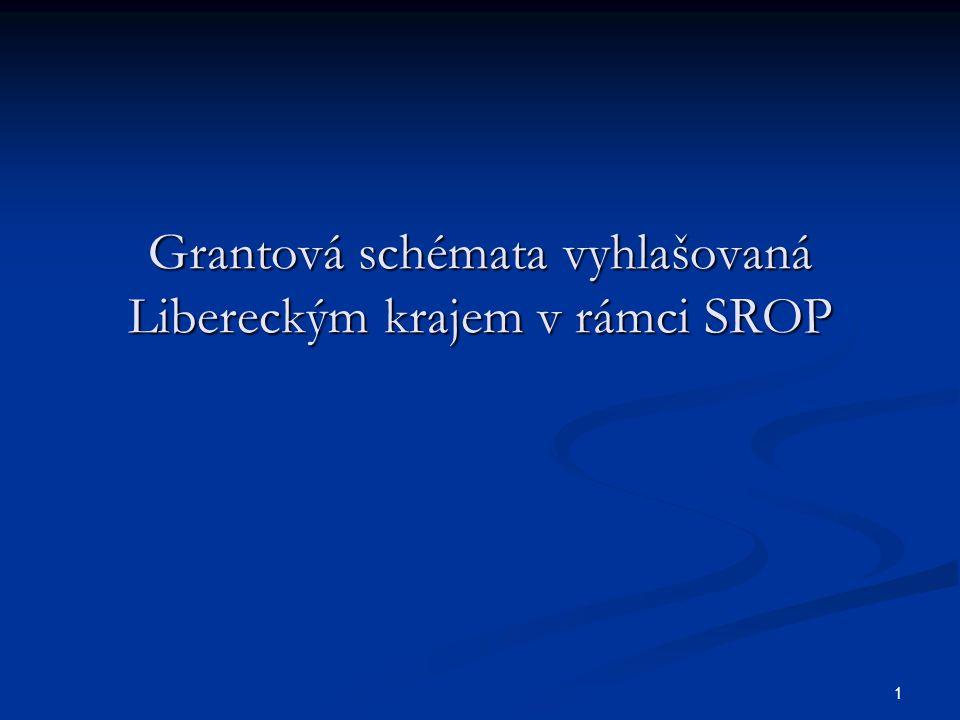 1 Grantová schémata vyhlašovaná Libereckým krajem v rámci SROP