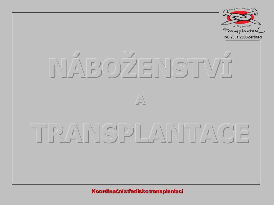 """Etické, právní a náboženské aspekty transplantací  Vliv globalizace, migrace, prolínání kultur  do transplantačních programů zapojováno stále více """"cizích osob  rozdílné náboženské přesvědčení  různé kulturní a etické zázemí  komercionalizace, psychologie, etika, právo Náboženství a transplantace ISO 9001:2000 certified Rotterdam, 1."""