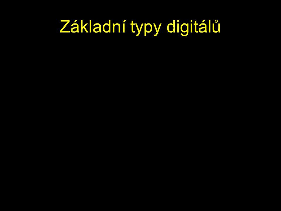 Základní typy digitálů