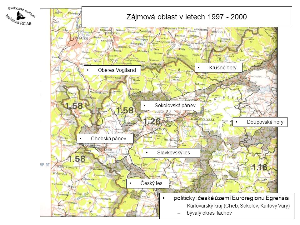 Období 2001 - 2005 Pozemkový spolek Meluzína genofondová plocha Hory –třešně a višně Slavkovského lesa –doplňuje plochu Loket cca 50 stromů –pouze nové výsadby –výsadby provedl vlastník –EC Meluzína poskytlo poradenskou pomoc –na obrázku Lyonská raná