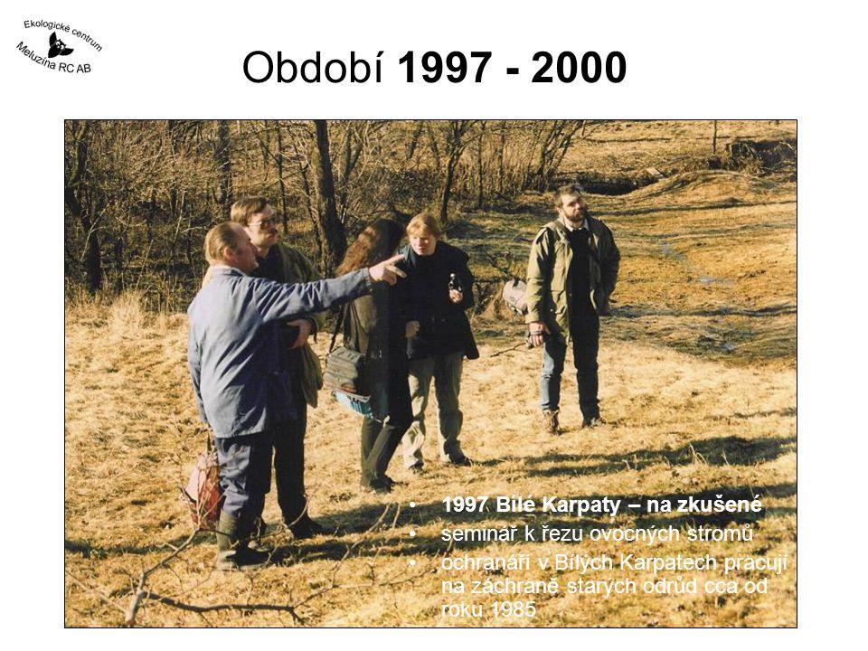 Období 1997 - 2000 1999 Muzikov okres Karlovy Vary kontakt s pamětníky a odborníky –pamětníků se podařilo kontaktovat pouze 5 ale posunuli nás zásadním způsobem kupředu –poskytli lokalizace cenných stromů i literaturu