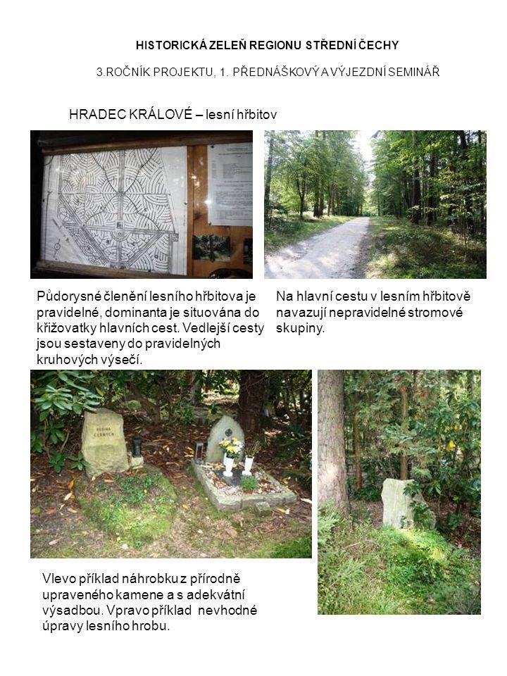 HISTORICKÁ ZELEŇ REGIONU STŘEDNÍ ČECHY 3.ROČNÍK PROJEKTU, 1. PŘEDNÁŠKOVÝ A VÝJEZDNÍ SEMINÁŘ HRADEC KRÁLOVÉ – lesní hřbitov Půdorysné členění lesního h