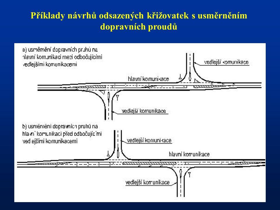 - Příklady návrhů odsazených křižovatek s usměrněním dopravních proudů