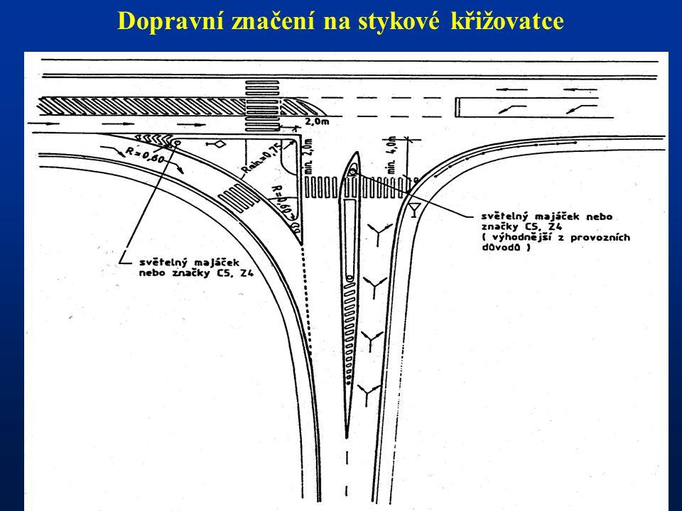 - Dopravní značení na stykové křižovatce