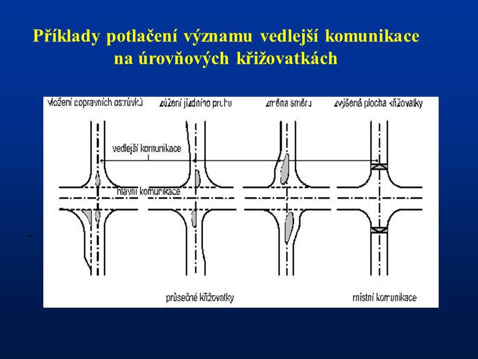 - Rozhledové poměry na okružní a miniokružní křižovatce