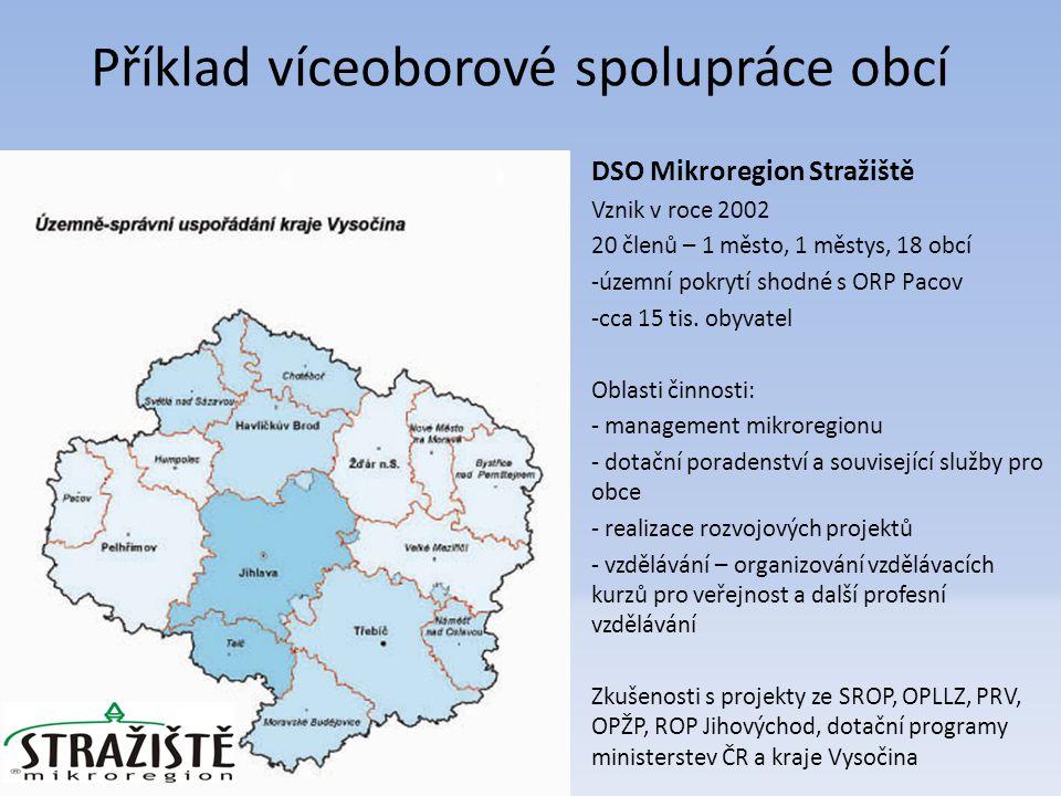 DSO Mikroregion Stražiště Vznik v roce 2002 20 členů – 1 město, 1 městys, 18 obcí -územní pokrytí shodné s ORP Pacov -cca 15 tis.