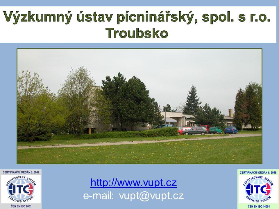 http://www.vupt.cz e-mail: vupt@vupt.cz
