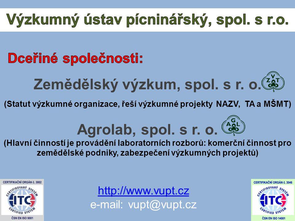 Zemědělský výzkum, spol. s r. o.