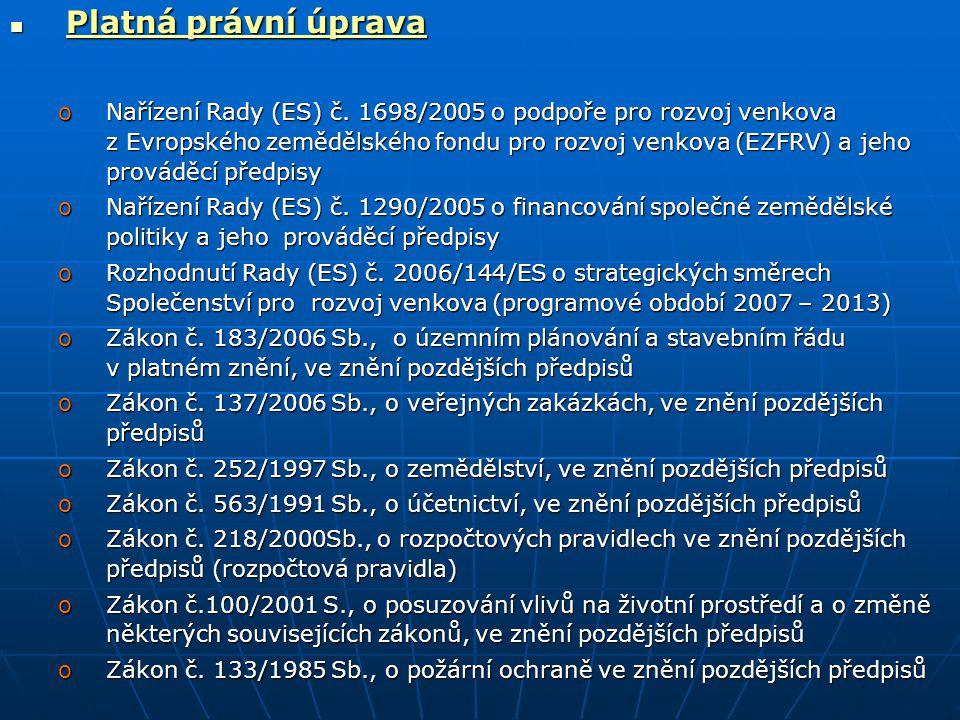 Platná právní úprava Platná právní úprava oNařízení Rady (ES) č.