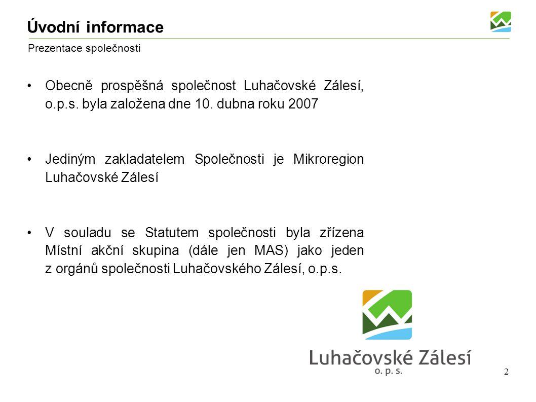Luhačovské Zálesí, o.p.s. Prezentace společnosti
