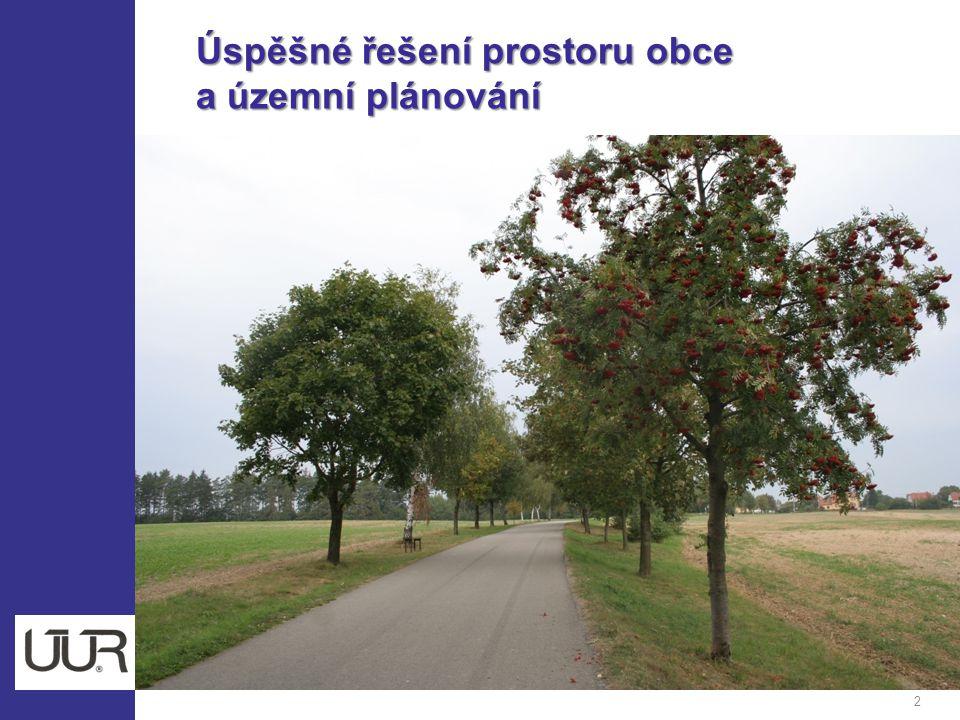 Úspěšné řešení prostoru obce Úspěšné řešení prostoru obce a územní plánování a územní plánování 2