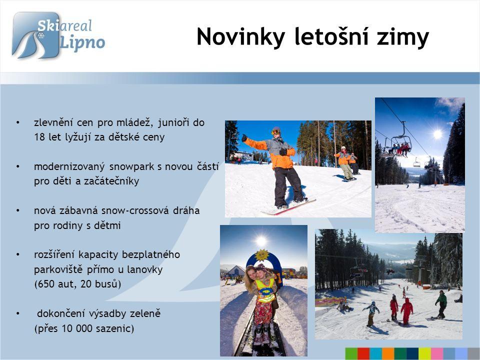 Novinky letošní zimy věrnostní systém pro stálé návštěvníky z regionu Euroskipas Šumava, česko-rakouské lyžování ve třech skiareálech systém bezdotykových čipových karet bruslařská dráha na zamrzlém Lipně Lipno – Frymburk 11 km Celková výše investic 2009/2010: 3 000.000 Kč