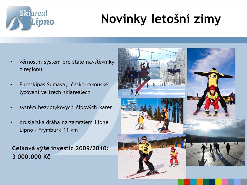 …a věrné návštěvníky z regionu specializace na výuku osob se zrakovým a tělesným postižením spolupráce s JČ dětskými domovy trvalé výhody pro obyvatele lipenských obcí, rodinné, skupinové a další slevy výhody pro cestující hromadnou dopravou (regionální skibusy, ČD Yetti) Specializace na výuku handicapovaných lyžařů… Lipenská lyžařská pouť - jihočeské vítání zimy (19.12.2009) Lipno Ski Camp – tréninkový dětský kemp s účastí postižených lyžařů projekt Monoski – výuka zrakově a tělesně postižených lyžařů