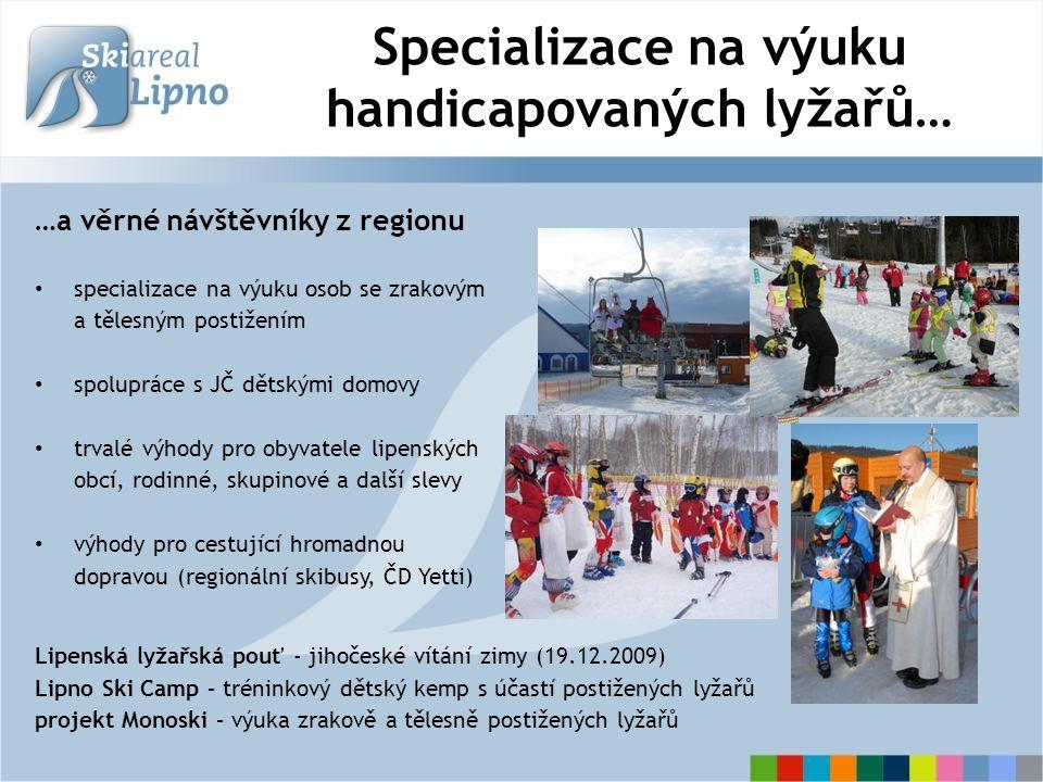 Výhodné lyžařské balíčky pro rodiny a školy ubytování + skipas od 359 Kč/den vynikající spolupráce s ubytovateli na Lipensku ubytovací kapacita 3500 lůžek do 5 min.
