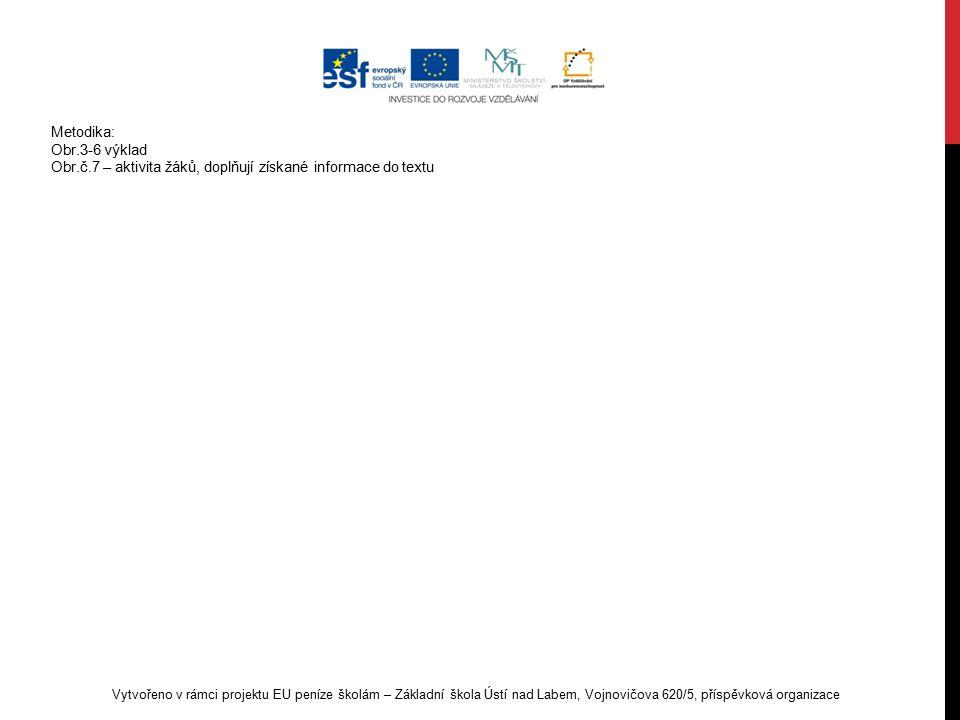 Vytvořeno v rámci projektu EU peníze školám – Základní škola Ústí nad Labem, Vojnovičova 620/5, příspěvková organizace Metodika: Obr.3-6 výklad Obr.č.
