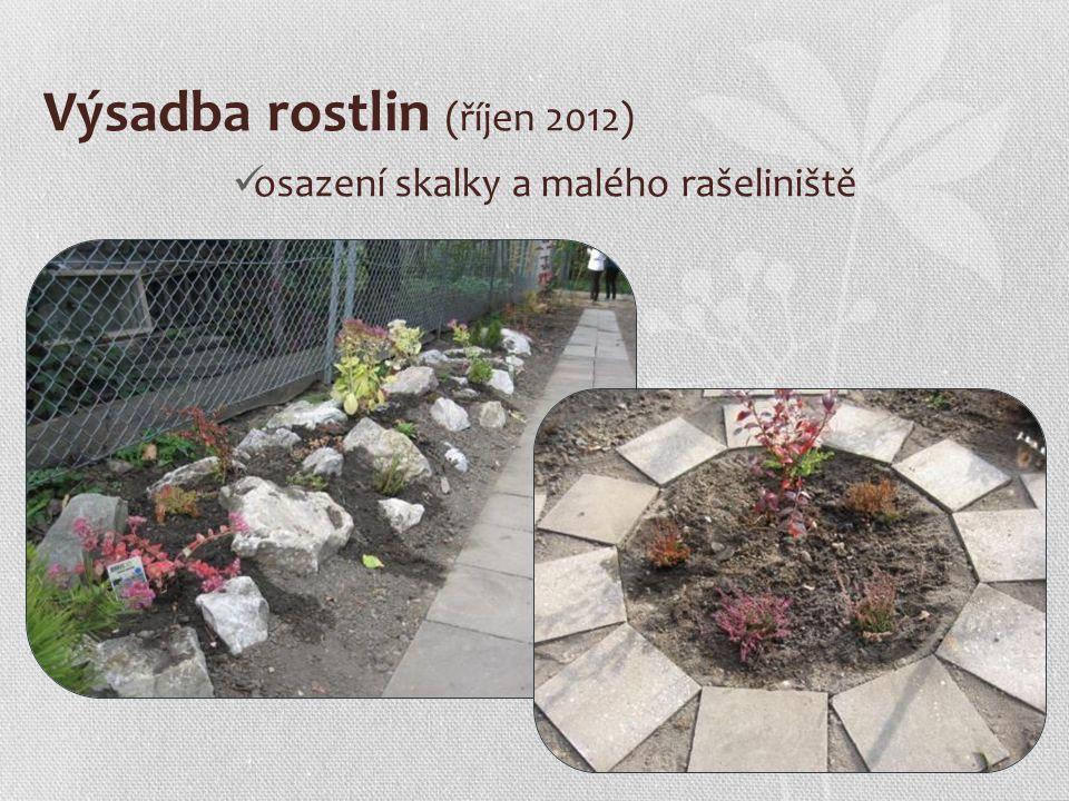 Výsadba rostlin (říjen 2012) osazení skalky a malého rašeliniště