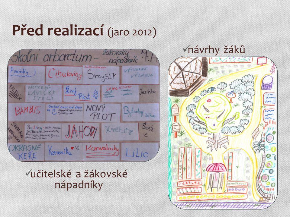 Před realizací (jaro 2012) učitelské a žákovské nápadníky návrhy žáků