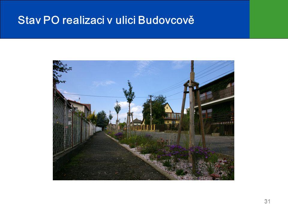 Stav PO realizaci v ulici Budovcově 31