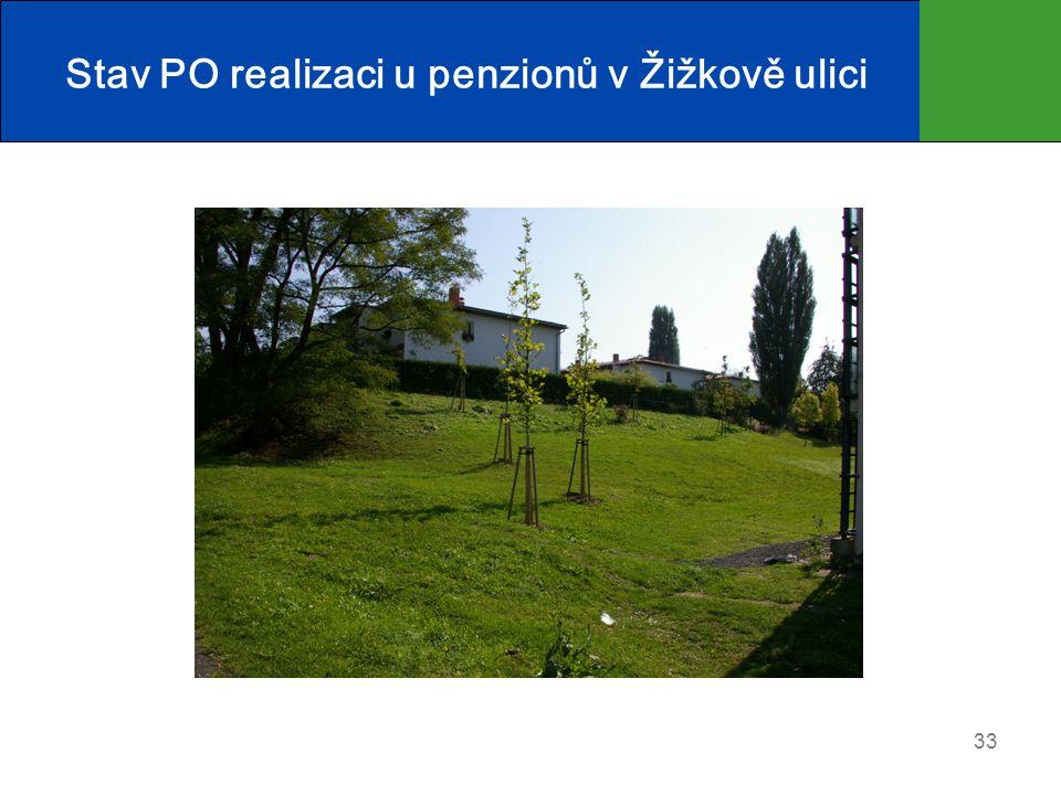 Stav PO realizaci u penzionů v Žižkově ulici 33