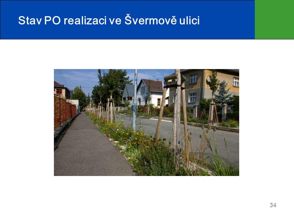 Stav PO realizaci ve Švermově ulici 34