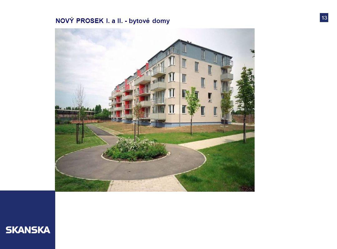 13 NOVÝ PROSEK I. a II. - bytové domy
